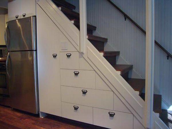 Ideen Stauraum Unter Der Treppe Schubladen Eingebaut