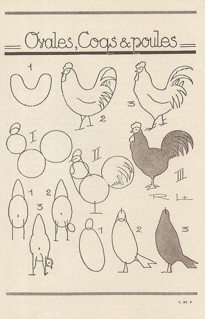 Gallos #Animales #Naturaleza #Dibujos #Ilustraciones #Artistas ...