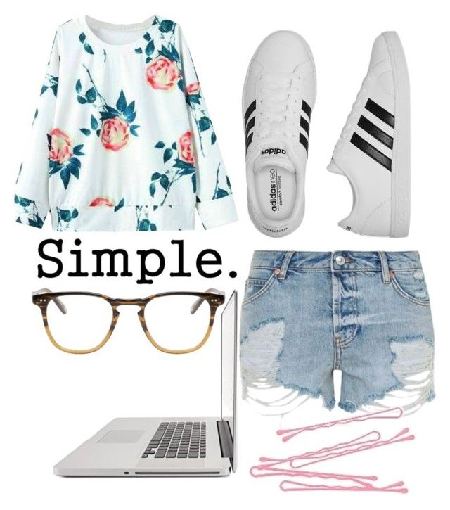 """""""Untitled #944"""" by sammi-mo ❤ liked on Polyvore featuring Topshop, adidas, CO, Garrett Leight and BOBBY"""