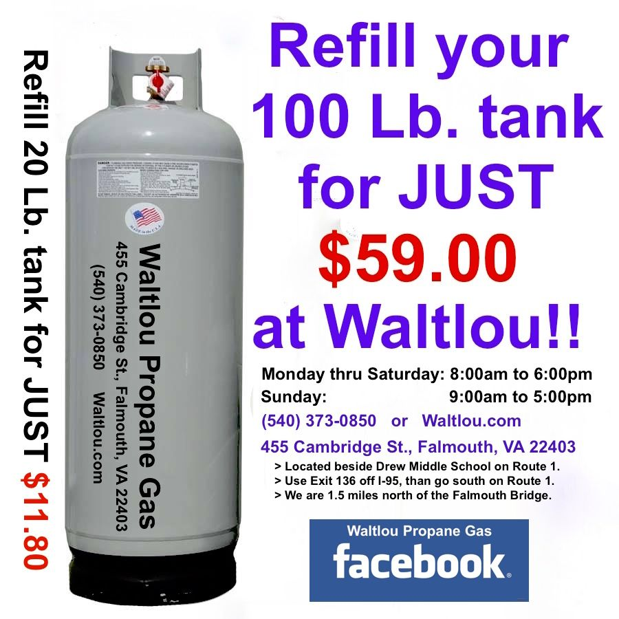Waltlou Propane Gas 455 Cambridge St., Falmouth, VA 22403