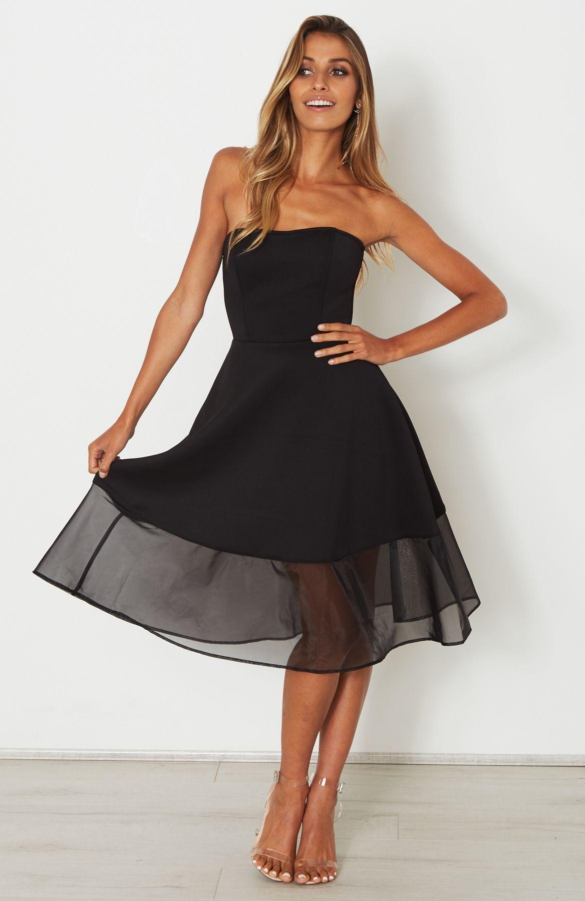 Slow Dance Midi Dress Black | White Fox | Pinterest
