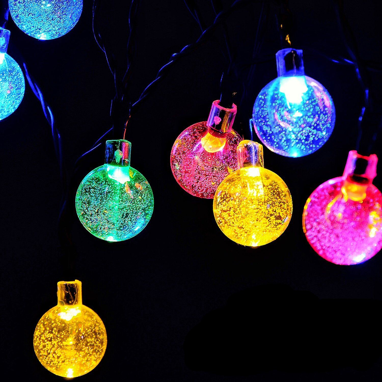 globe battery operated string lights with timer recesky 30 led