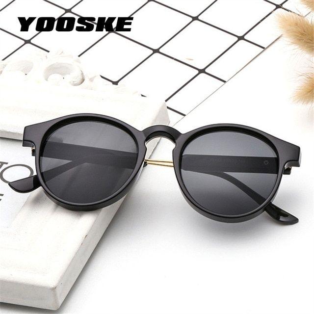 eac54a2c1e21 YOOSKE Retro Round Sunglasses Men Women Unisex Vintage Design Small Sun  Glasses for men Driving Glasses Shades for Women Review