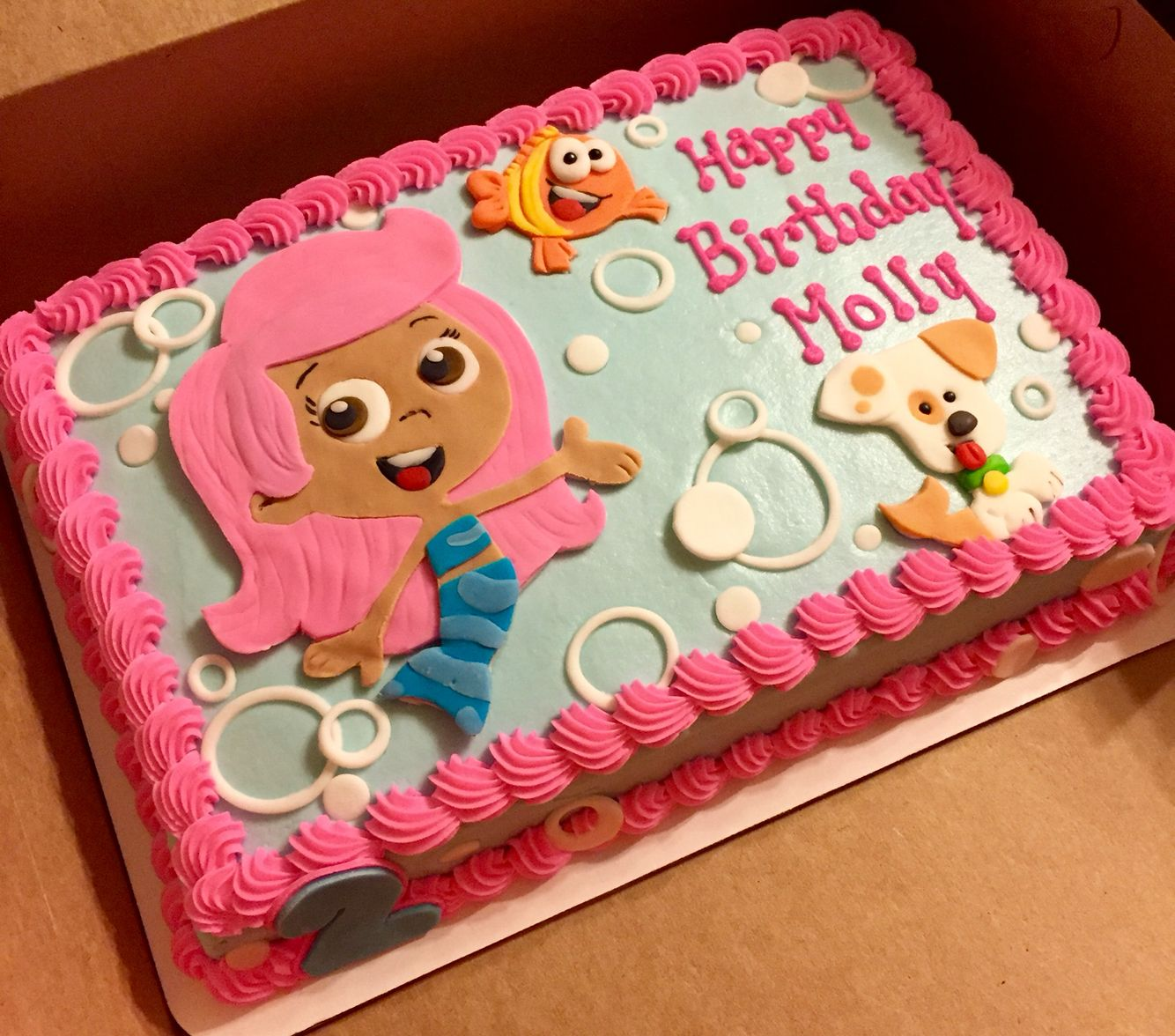 Marvelous Bubble Guppies Cake Bubbleguppiecakes Funny Birthday Cards Online Alyptdamsfinfo
