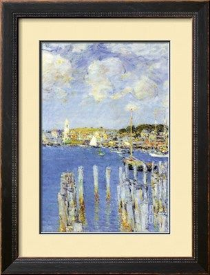 Port of Gloucester Island Art Print by Childe Hassam at Art.com
