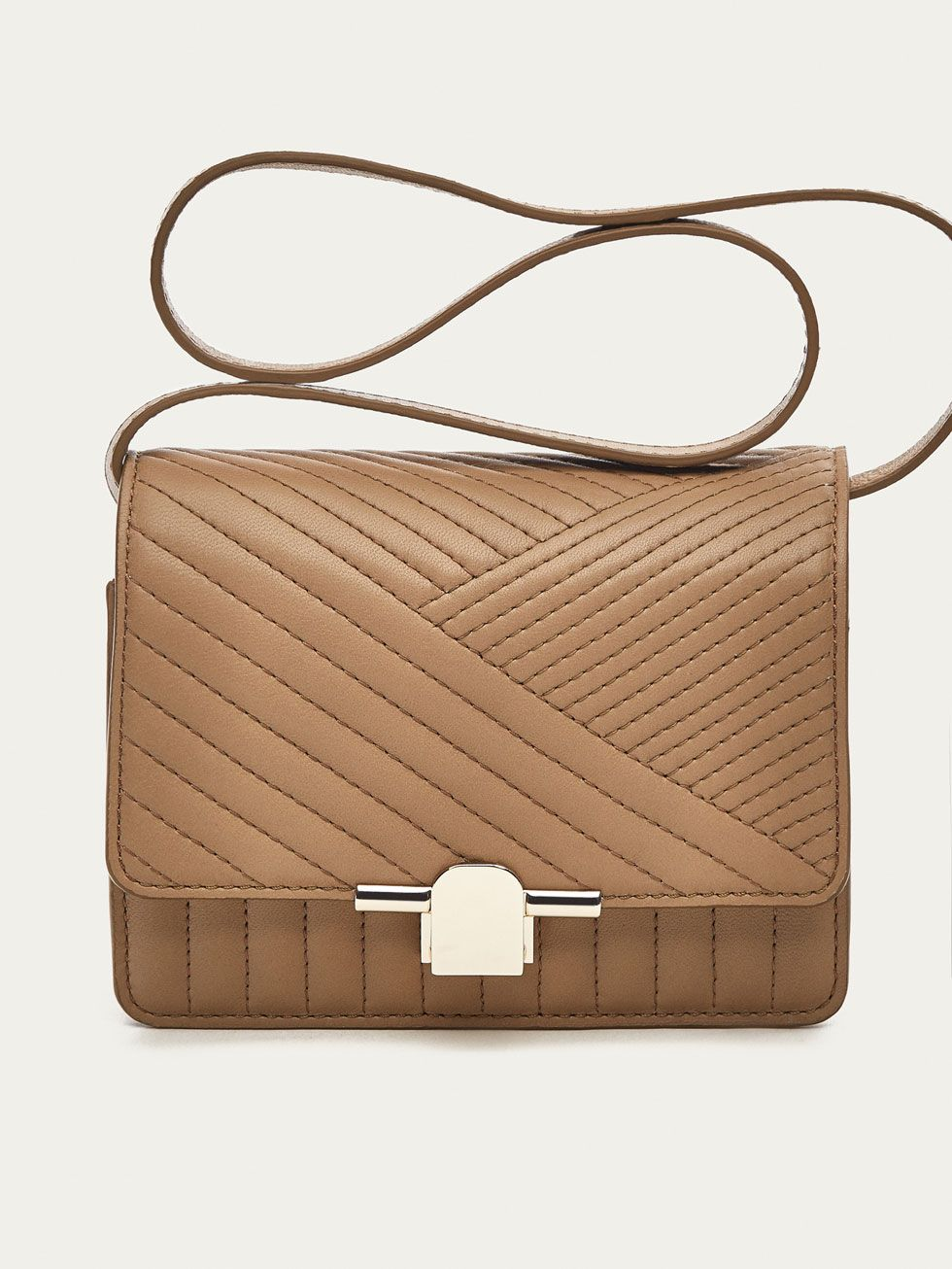 71438eea3 Spring Summer 2017 Women´s QUILTED LEATHER CROSSBODY BAG at Massimo Dutti  for 79.95. Effortless elegance!