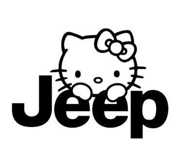Custom Jeep Hello Kitty Vinyl Decal Sticker Amazoncom - Hello kitty custom vinyl stickers