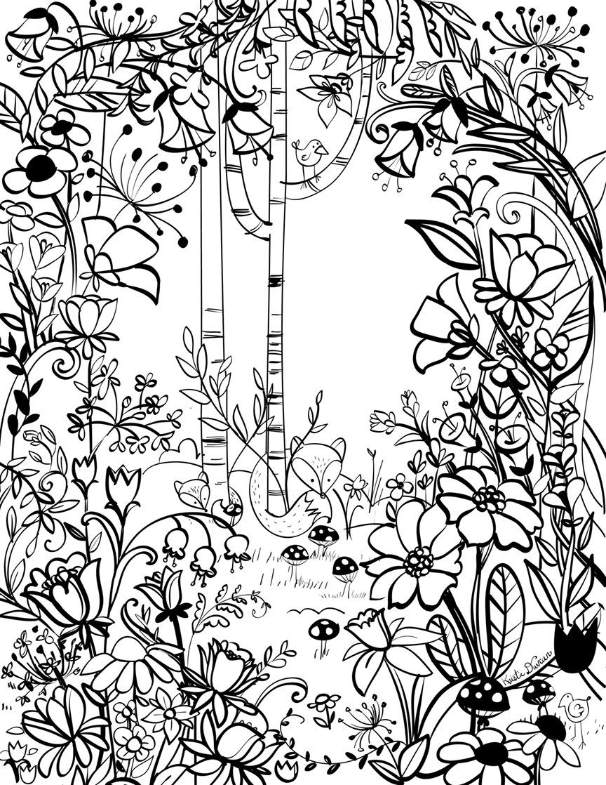 Free Download: Spring Coloring Page by Artist Kristie ...