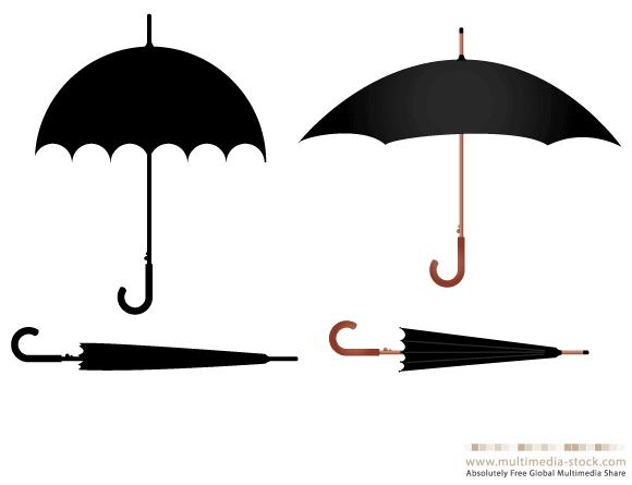 Umbrella Vector Set Ai Svg Eps Vector Free Download Free Vector Art Vector Free Download Vector