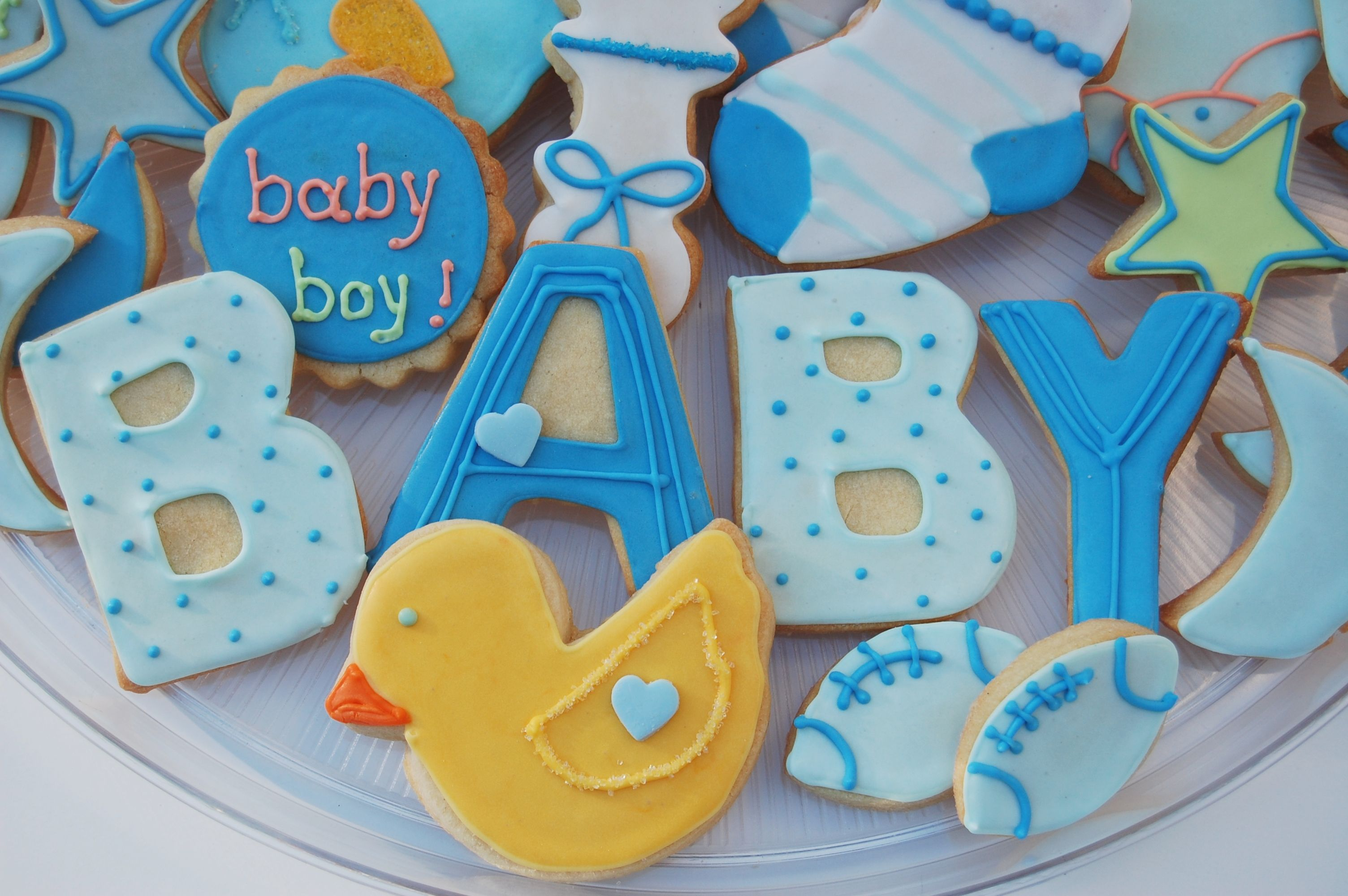 Beautiful Cookie Baby Shower | Baby Boy Shower Cookies! | Annieu0027s Custom Cookies