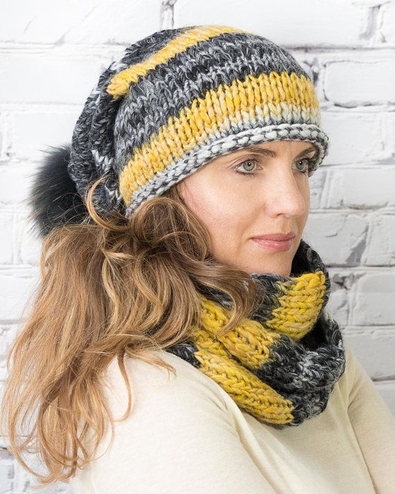 dd4c038072b6ee Chunky winter hat and scarf matching set | Calliope Knits | Bufandas ...
