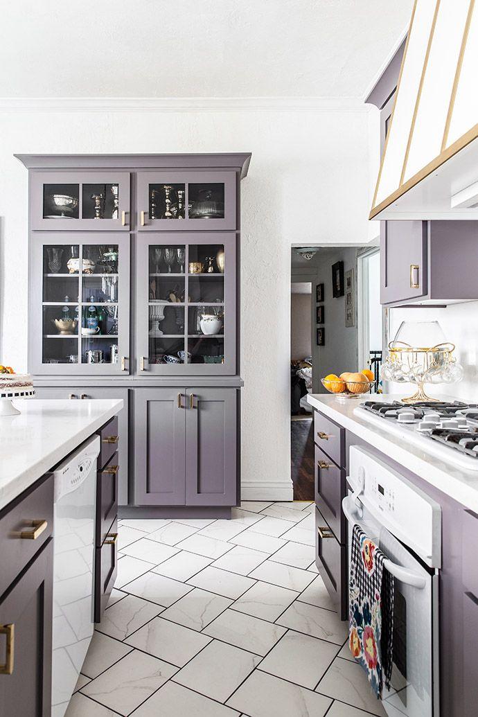 Grey Purple Kitchen