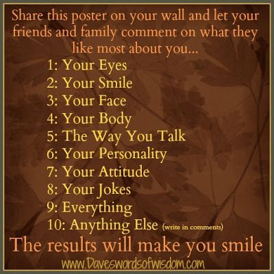 What Do You Like Most About Me Jokes Poster On Like