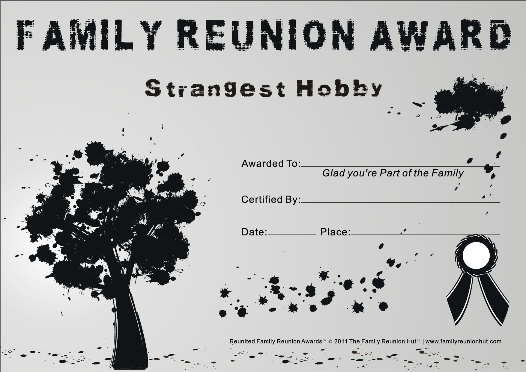 Family reunion themes family graffiti 4 is a free family for Free family reunion certificates templates