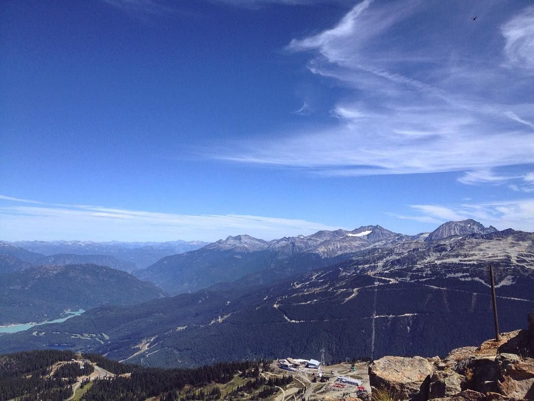 I love the views from up here - Whistler Canada