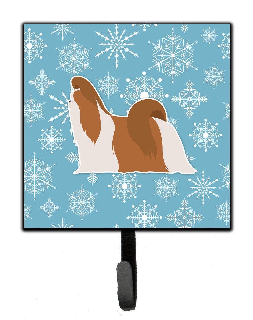 Winter snowflake shih tzu leash or key holder bbsh products