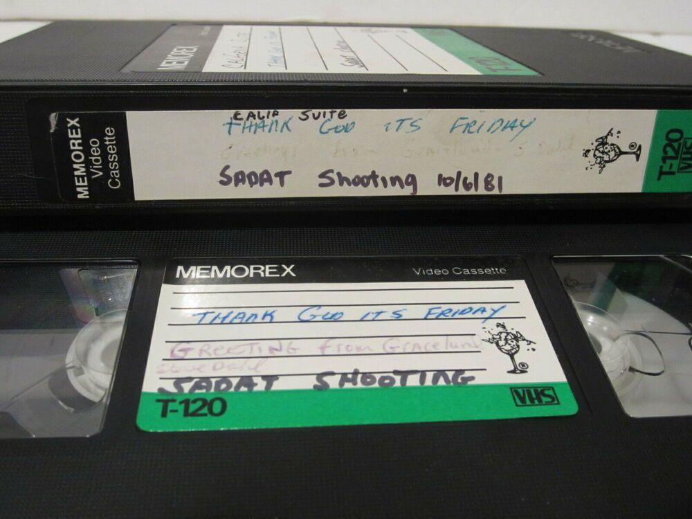 Home Recording Vhs 1981 Commercials Sold As Blank Memorex T 120 Chicago Retail Graceland Plastic Case Video Tapes