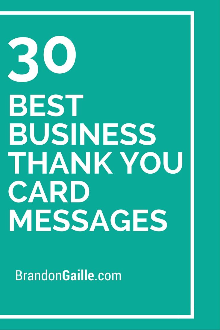 31 Best Business Thank You Card Messages Messages Business And 30th