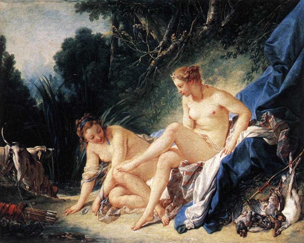 François Boucher - Diane sortant du bain - 1742 - Musée du Louvre, Paris