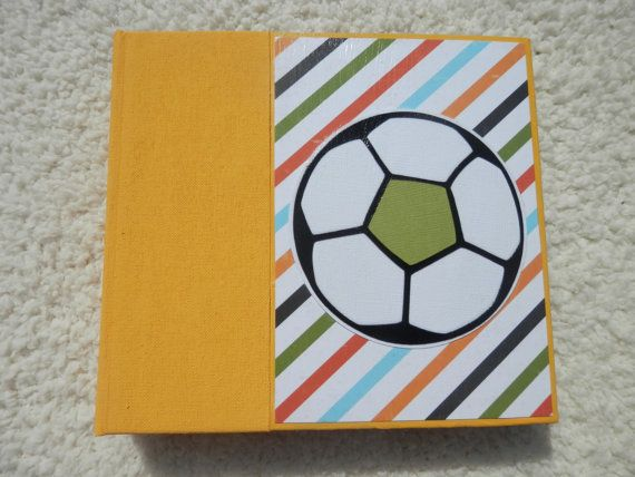 6x6 Soccer Scrapbook By Simplymemories On Etsy Scrapbooks By