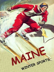 Lake Tahoe California Ski Skiing Speed Race Sport Vintage Poster Repo FREE S//H