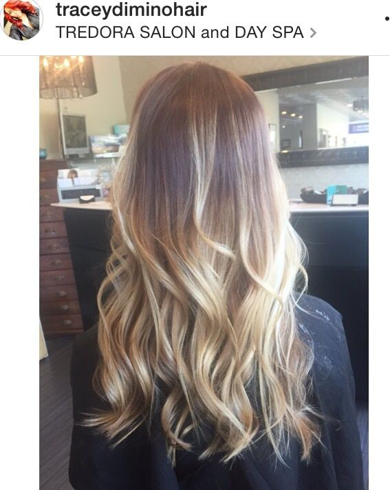 Blonde Balayage Highlights On Long Curled Hair Blondes