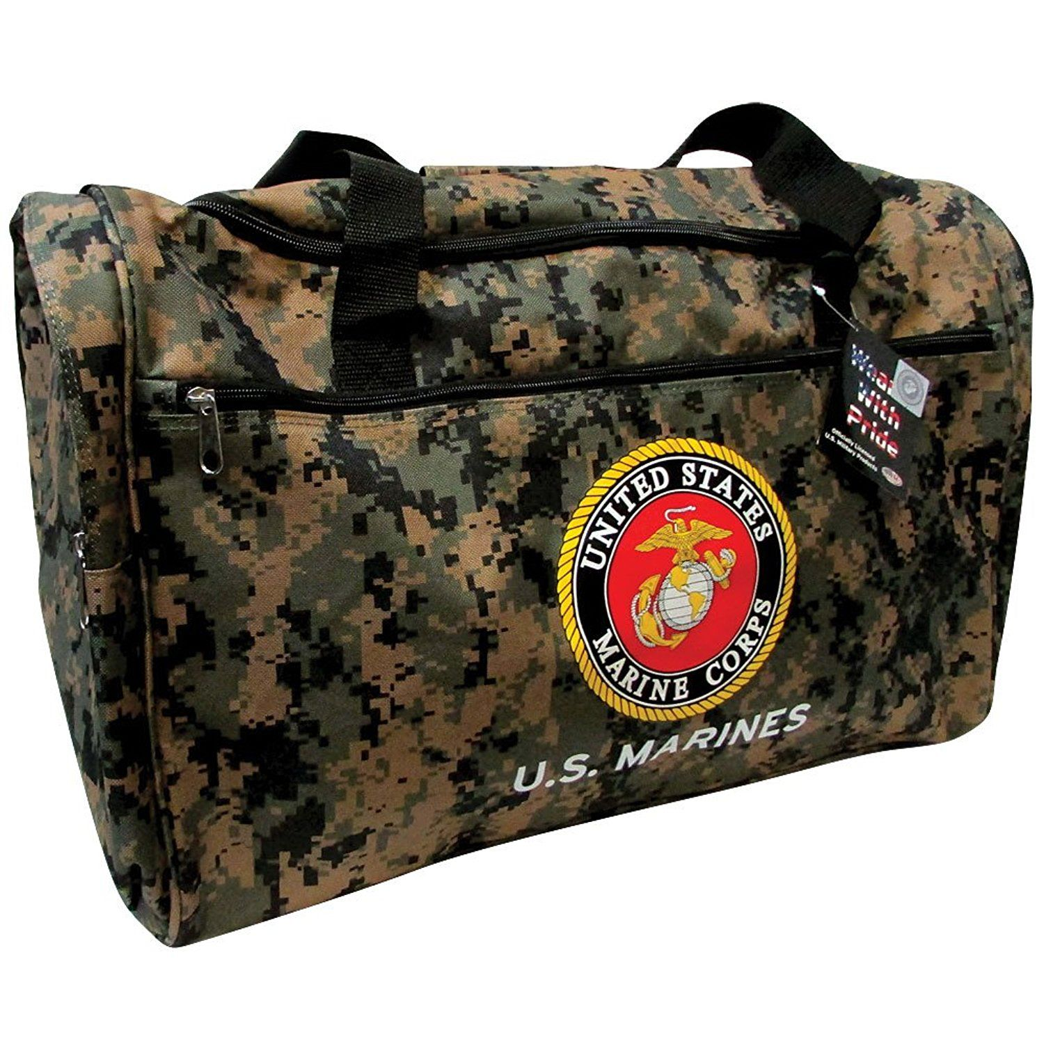 Us Marines Military Duffle Bag Heavyweight Construction Adjule Strap Check Out The