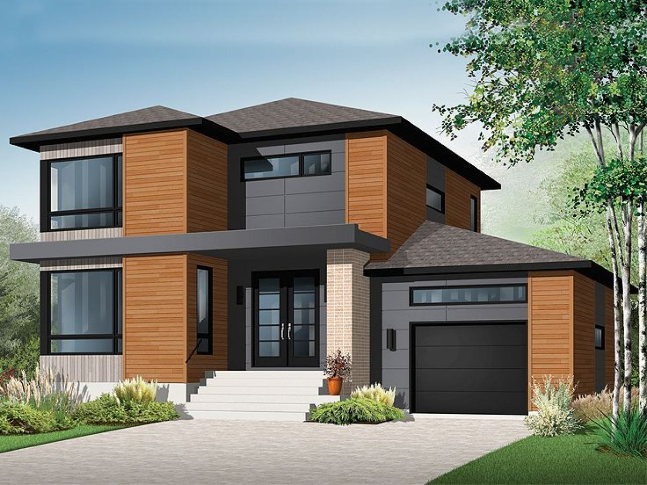 Nice 2 Story House Modern 2 Story Contemporary House Plans ...