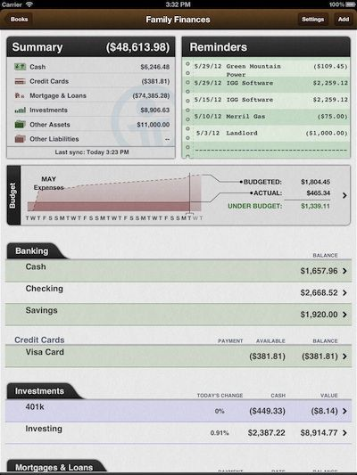 iBank for iPad launched in the App Store today for $1499 The app