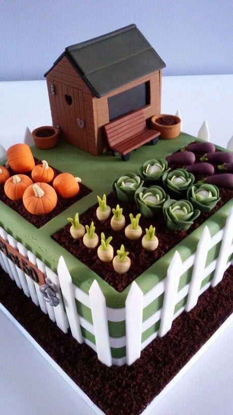 Vegetable Garden Cake   Vegetable garden cake, Garden ...