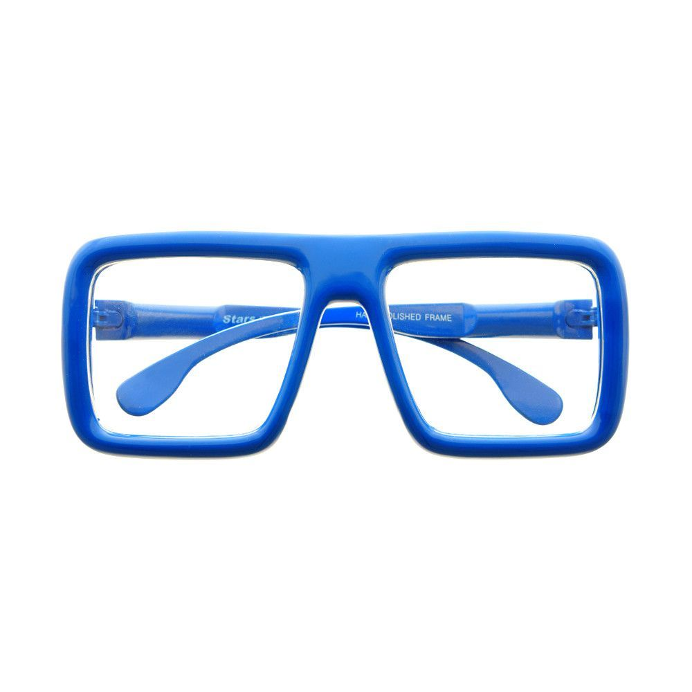 Thick Framed Clear Lens Square Flat Top Glasses Frames FT24 ...