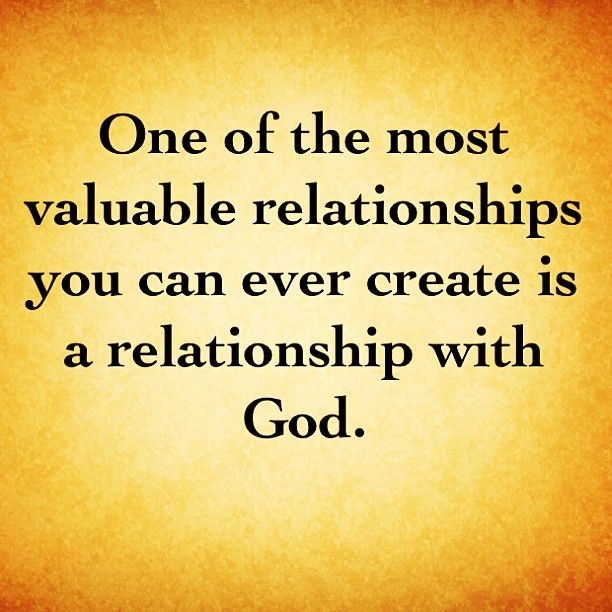 how to start building a relationship with god
