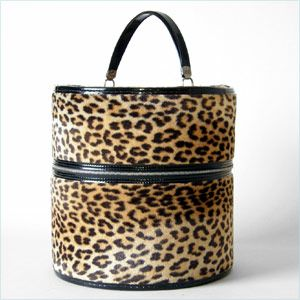 Vintage Leopard Print Hatbox Vip