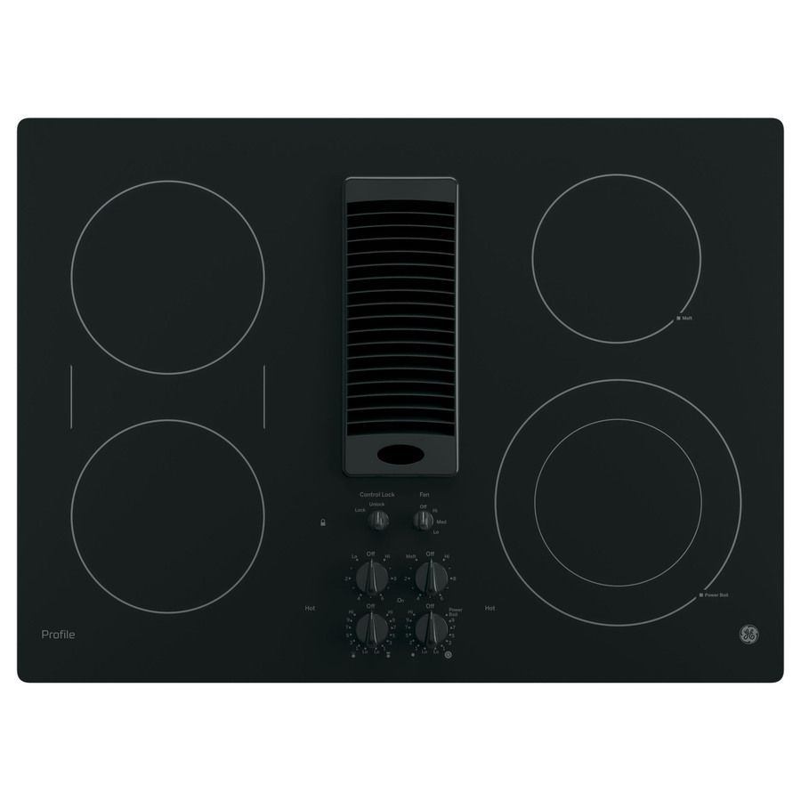 Ge Profile Smooth Surface Electric Cooktop With Downdraft