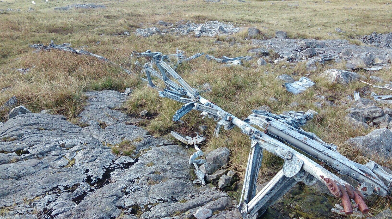 Wellington MF509 wreckage.