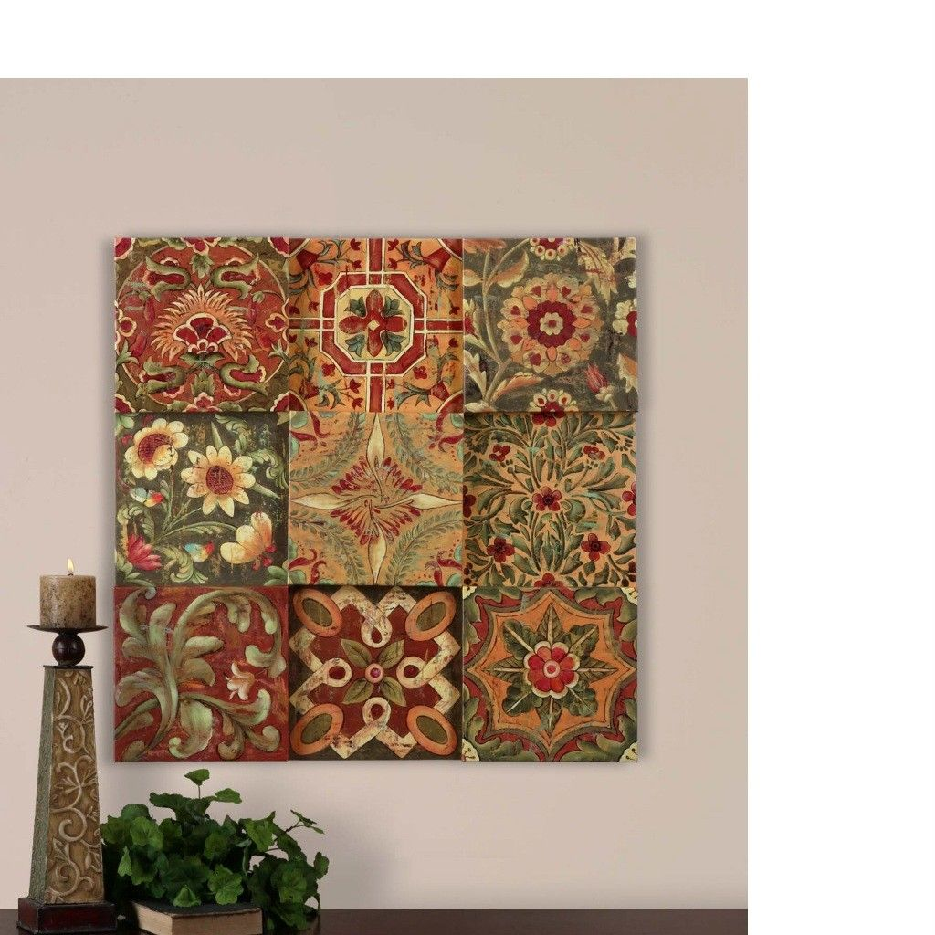 Lovely Details About Wall Blocks French Country TUSCAN Wall Decor ~