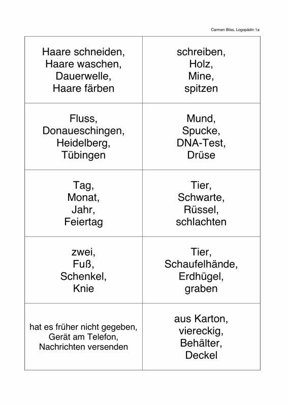 Finde den Begriff (Teil 2) - Sprache | demenz | Learn ...