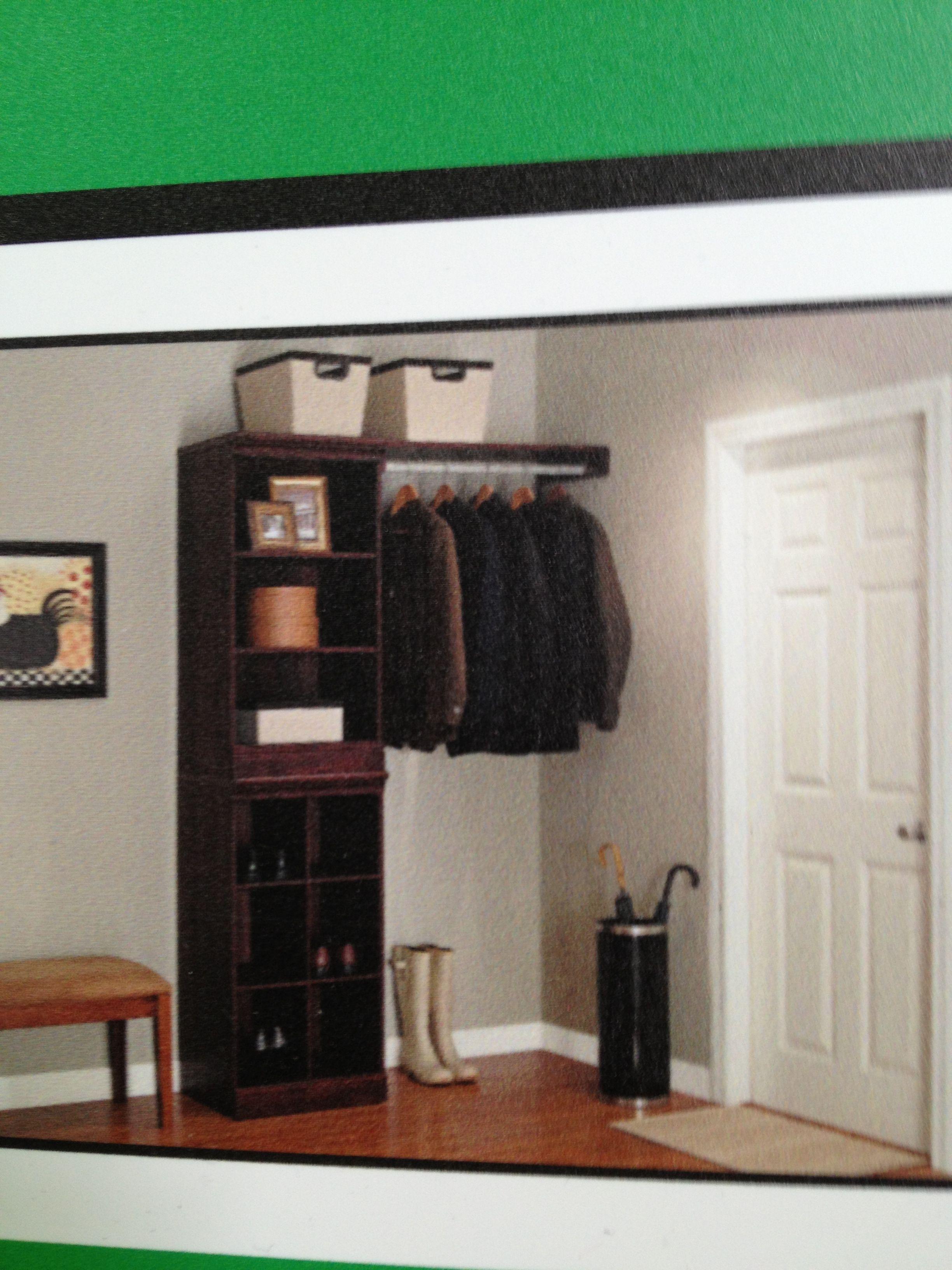 By my back door from menards closet dept Home decor