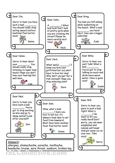 a worksheet to improve reading comprehension while working