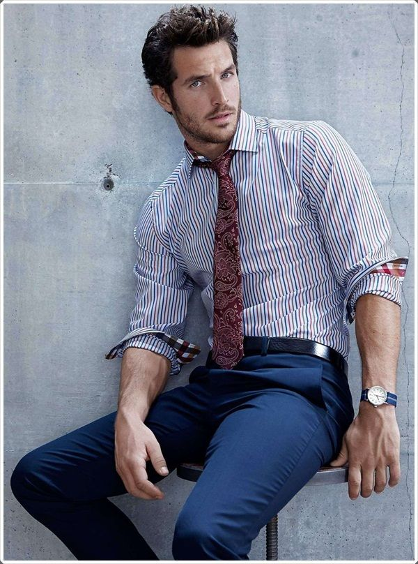 Dark blue pants are incredibly popular because they go well with dress  shirts. 79c32b8b77
