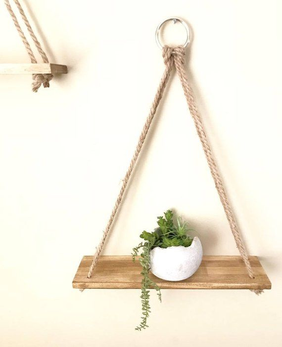 Hanging shelves, Planter, Handmade, Wall Decor, Rustic Shelves, Wall Planter, Shelves, Bathroom Shelves, Wall Shelves, Home Decor, Gift #rustichomedecor
