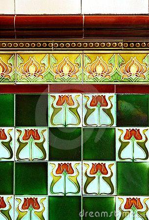art nouveau tiles art nouveau design pinterest art nouveau art et art d co. Black Bedroom Furniture Sets. Home Design Ideas
