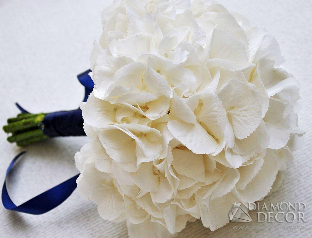 Biel Ecru Bialy Bukiet Slubny Hortensja Pobieramysie Wedding Flowers Coconut Flakes