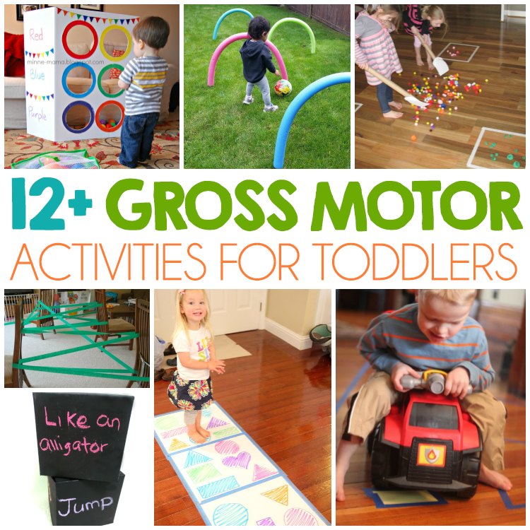 12 Gross Motor Skills For Toddlers I Heart Arts N Crafts Toddler Gross Motor Activities Physical Activities For Toddlers Gross Motor