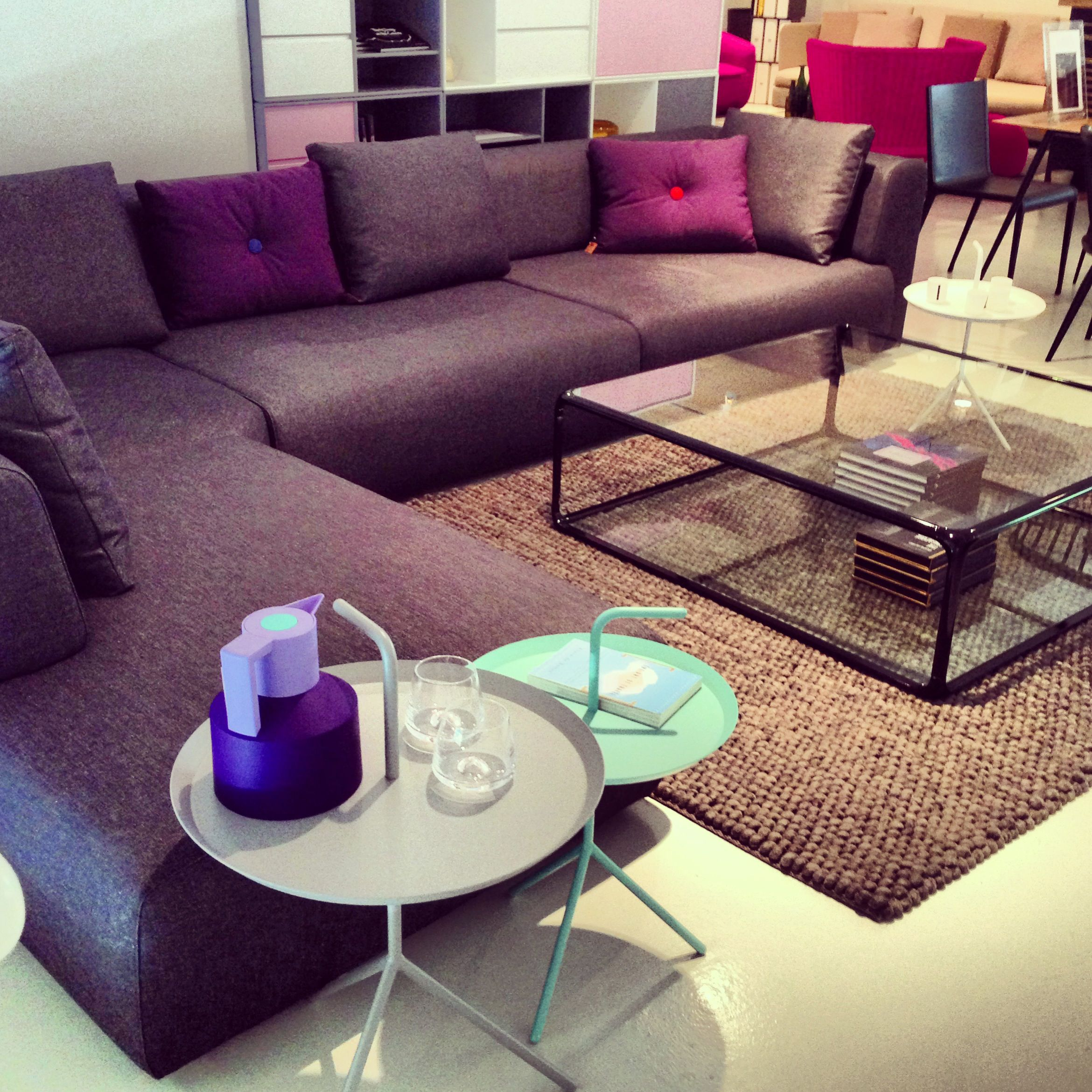 Dream Interiors Showroom Level 2 Carpet Cushions And Side Tables From Hay L Shaped Sofa Coffee Table Sancal Thermos Gl Cups Normann