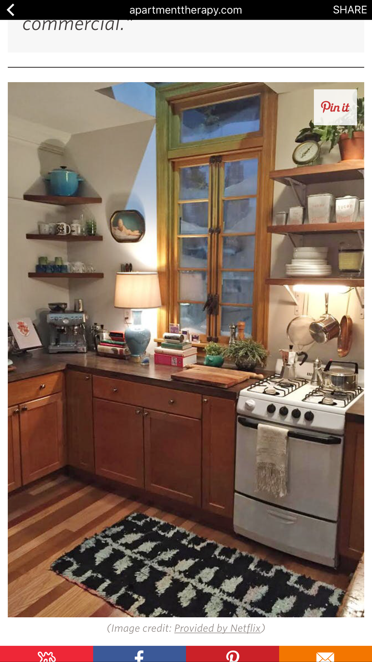 Lamp in the kitchen (Dev's apartment from Master of None