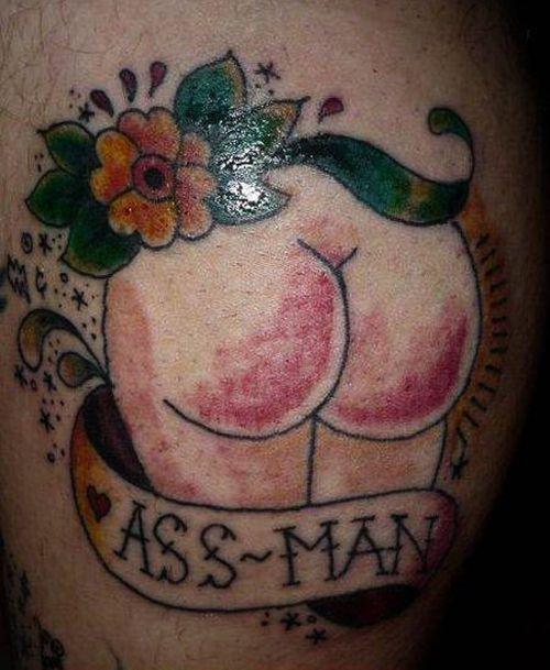 062777baf Ass Man Tattoo regrettable bad tattoos terrible awful ugliest tattoos wtf  tattoos, horrible tattoos funny tattoos awkward family america's w.