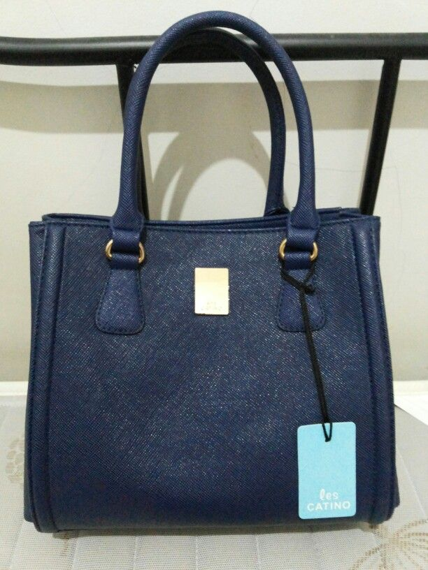 Deep Blue Handbag From Les Catino