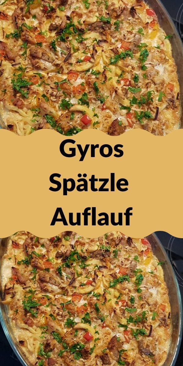 Gyros-Spätzle Auflauf