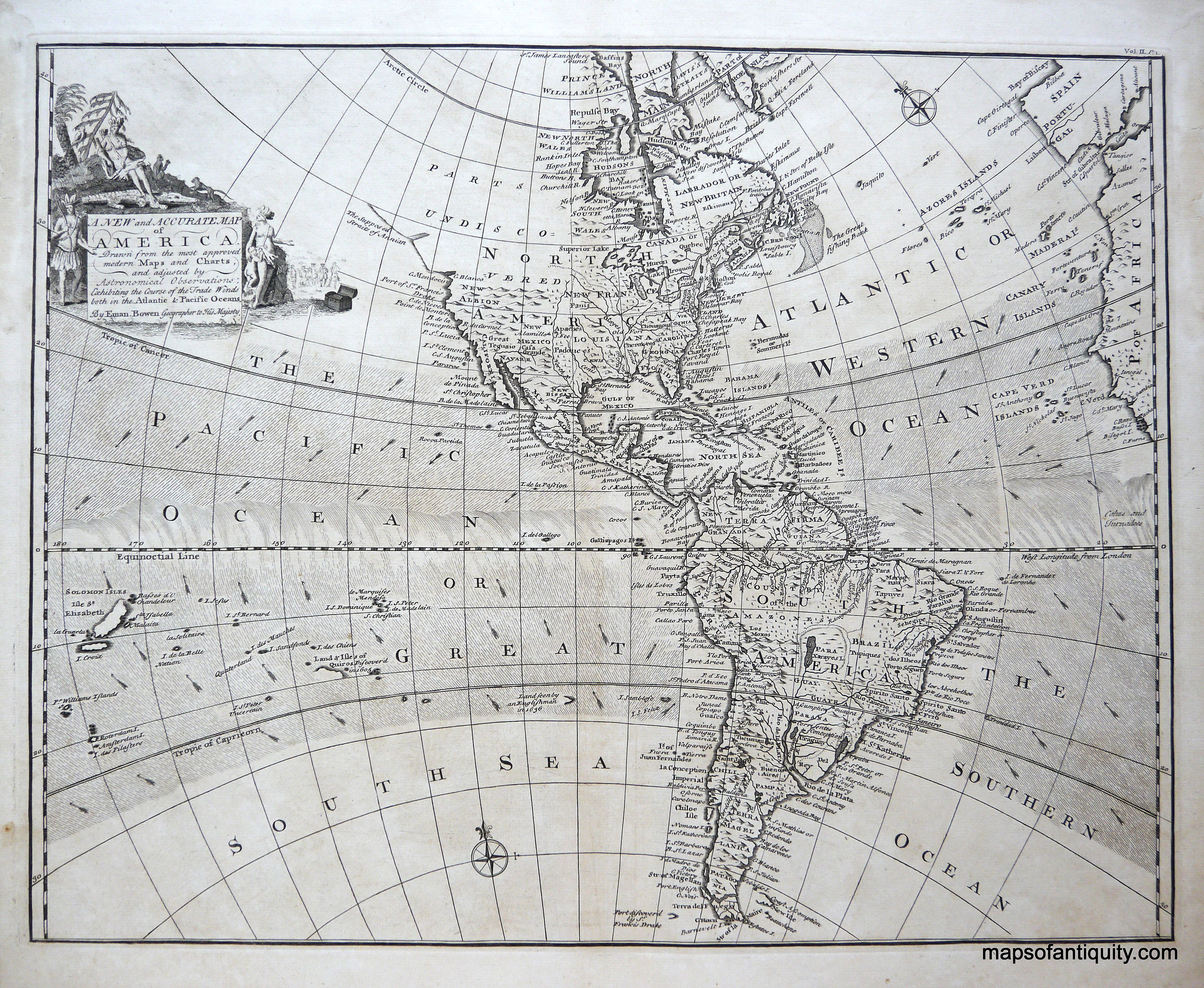 A new and accurate map of america antique engraved black and white a new and accurate map of america antique engraved black gumiabroncs Images